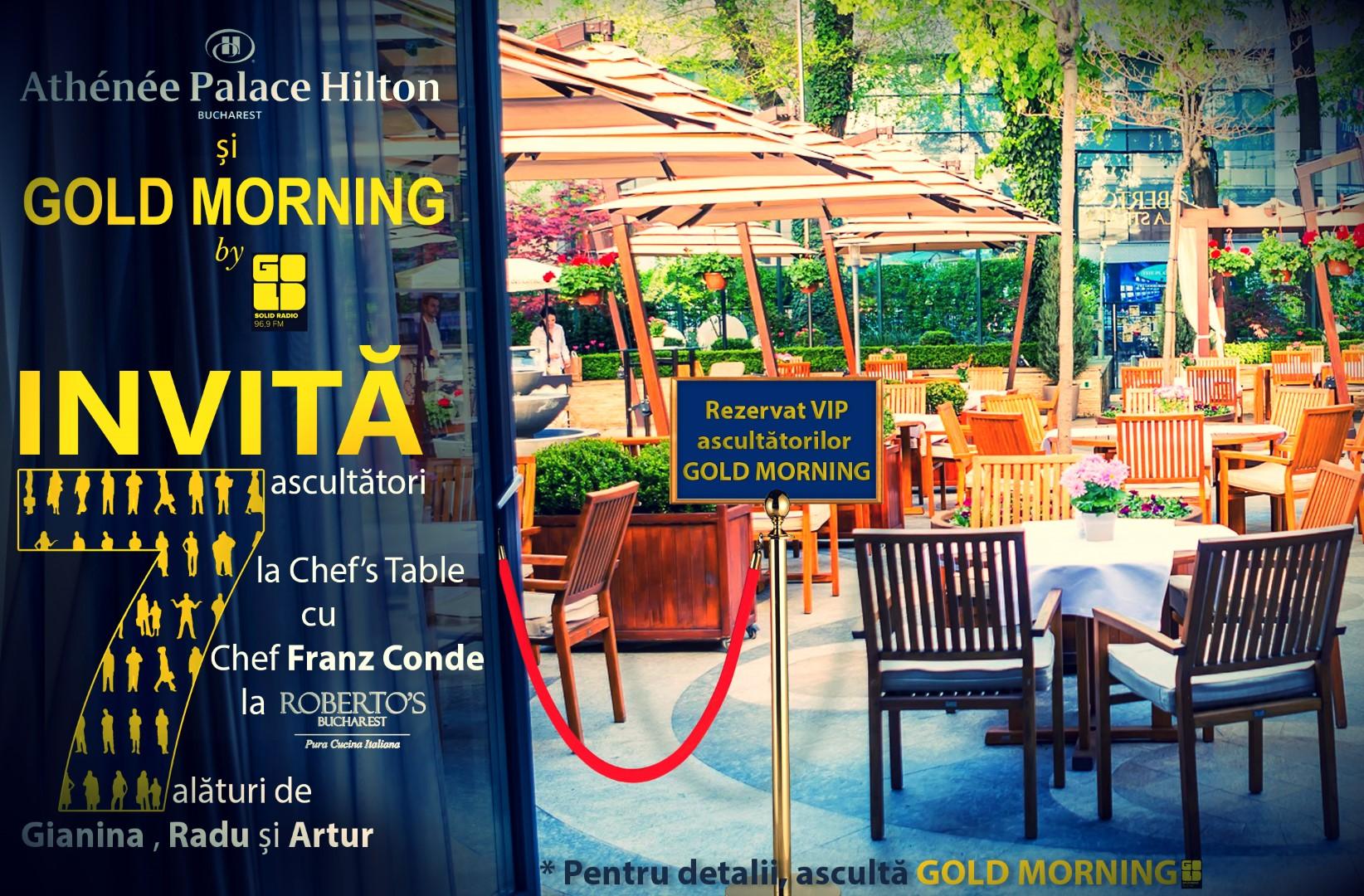Chef's Table la Roberto's cu Matinalii de Gold